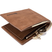 Wholesale Change Purse Hasp - Baborry Fashion New Quality Pu Men's Wallets Carteira Black Brown Quality 3 Fold Portable ID Credit Card Holder Coin Change Purse Wallet