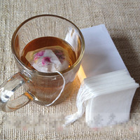 Wholesale Empty Drawstring Tea Bags - empty teabags food grade material made filter single drawstring tea bags disposable tea infuser 100pcs pack wholesale cheap price 5 sizes