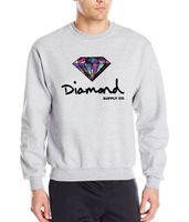 Wholesale Hip Hop Clothing Diamond Hoodie - Wholesale-Diamond supply co men hoodies 2016 new autumn winter fashion cool sweatshirt hip hop style slim fleece brand clothing