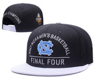 Wholesale Unc Snapback - 2017 Men's Basketball Final Four North Carolina Tar Heels Snapback Hat Blue Black UNC Champions Blocking Embroidered UCLA Adjustable Cap