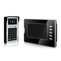 "Wholesale Video Intercom Id - Access video door phone 7""color screen and intercom unlock by password and ID card"