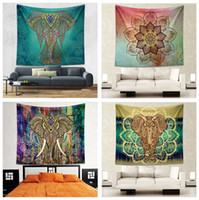 Wholesale 22 Designs cm Bohemian Mandala Beach Tapestry Hippie Throw Yoga Mat Towel Indian Polyester Beach Shawl Bath Towel IB055