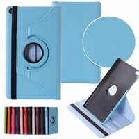 Wholesale Huawei Mediapad Case Inch - 360 Rotating Flip Smart Cover PU Leather Stand Litchi Case For Huawei MediaPad M3 Lite T1 T3 M2 8.0 10.1 8.4 7.0 inch Tablet