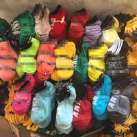 chaussettes de baseball rose achat en gros de-Chaussettes de cheville rose Mode Femmes Filles Chaussettes de sport Chaussettes de sport courtes chaussette de bateau couleurs mélangées