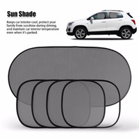 Wholesale Side Shade - Hot Sale Black Car Window Sun Shade Car Windshield Visor Cover Block Front Window Sunshade UV Protect Car Window Film 5 Piece