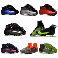 Wholesale Cheap Ronaldo Football Boots - Superflys Football Boots Mercurial CR7 Superfly V FG Soccer Cleats Mens Soccer Shoes Cheap Cristiano Ronaldo Boots Football Cleats For Men