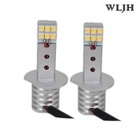 WLJH H1 12-24V Éclairage externe LED 5050 SMD chips 6000K 360o illuminé Anti-brouillard anti-brouillard Lampe à LED DRL Daytime Running Lights