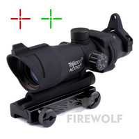 Wholesale Trijicon Green Dot - Trijicon ACOG 1X32 Telescopic Sight Red Green Dot Laser Sight 20mm Mounts Scope Sight for hunting
