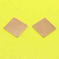 Wholesale Thermal Copper Shim - Wholesale- TL-099 15x15x1 mm DIY Copper Heatsink Shim Thermal Pad Heat Sink Sheet For Laptop GPU CPU VGA Chip RAM cooler cooling