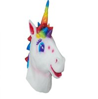 Wholesale Unique Animal Masks - Latex Unicorn Halloween Masquerade Masks Women Style Free Size New Unique Design for Cosplay masquerade ball Party
