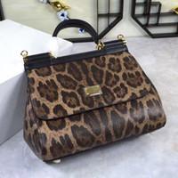 Wholesale Casual Diagonal - Retro casual handbag shoulder bag handbag leather leopard diagonal flip