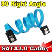 кабель sata 6gb s оптовых-Оптовая продажа-супер скорость прямой прямой угол 6 Гбит / с 50 см SATA 3.0 кабель 6 ГБ / с SATA III SATA 3 кабель плоский шнур для передачи данных HDD SSD