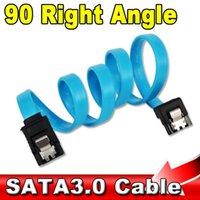 sata 6gb s kabel großhandel-Großhandels- Supergeschwindigkeit gerader rechtwinkliger 6Gbps 50CM SATA 3.0 Kabel 6GB / s SATA III SATA 3 Kabel-flaches Daten-Kabel für HDD SSD
