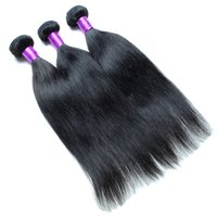Wholesale Cheap Quality Malaysian Hair - Cheap Brazilian Human Hair Bundles Straight Hair Weaves 3Pcs  Lot Wet And Wavy Human Hair Dyeable 7A Great Quality