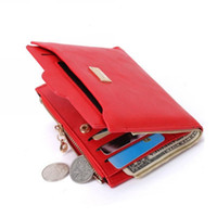 Wholesale Wholesale Leather Shorts For Women - 2017 New Brand Fashion Zipper PU Leather Purse Wallet Coin Card Holder Photo Holder Female Purse Wallets For Women DB5700