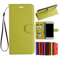 Wholesale iphone 5c green resale online - Wallet Case Lichi PU Leather Cover Case With Card Slot Standholder Photo Frame For i7Plus Plus C S SE