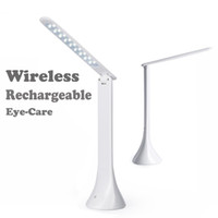 Wholesale Nickel Rechargeable Batteries - Wireless Eye Care LED Table Lamp Desk Reading Lamp for Kid Home Office Touch Rotation Flip Book Light USB Charging Reading Light