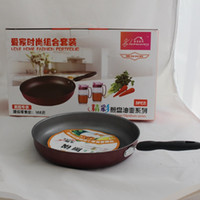 Wholesale Suit Pans - Combination of three sets of oil pot frying pan suit gift advertising pot durable metal pans home kitchen cookwawre