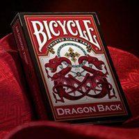 Nuevo mago original favorito de bicicletas Dragon Playing Cards Advanced Paper Poker Trucos de magia Colección de regalos Poker