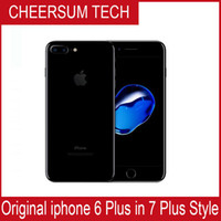 Wholesale Iphone Back Housing Dhl - Without fingerprint DHL 2017 iphone 6 in 7 style Mobilephone 4.7 5.5 inch 16GB 64GB 128GB iphone 6 refurbished in iphone 7 housing Cellphone