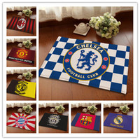Wholesale Floor Mats Chelsea Football Team Fans Souvenir Carpets Soccer Rugs Team Badge Car Room Floor Rug Sizes To Choose