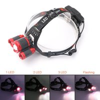 Hot Promotion Light Lightlight Bike Zoomable Miner Lampe Lampe minière pour Head Torch Headlamp Camping Headlight Camping Phares de pêche