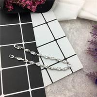 metallplatte kettenarmband großhandel-Top-Qualität Hochzeit Gold überzogene Armbänder Armreifen Armband für Frauen Metallkette mit vielen Charms springy Armband Modeschmuck Rose