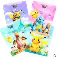 Wholesale Wholesale Document Folders - Poke A4 Document Bags Cartoon PVC Folder Expanding Wallet Bag Office Stationery Folders for Students 32*23.5cm DHL Free Shipping