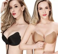 Wholesale Cup Bra For Dresses - Women Silicone bra cups for backless dress Invisible Push Up Stick On Self Adhesive Front fly Bras Strapless Cup A B C A 080