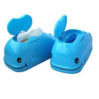 Atacado- Cartoon Tissue Boxes Vivid Whale Shape Tissue Holder Desktop Decoração Home Office Car Tissue Box guardanapos