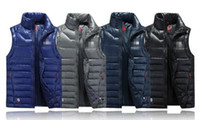Wholesale Women Pads Brands - 2017 New Winter Men's Ultra Light Down Vest Men 90% White Duck Down Padded Winter Waistcoat Couples Branded Down Vest Men & Women Coats