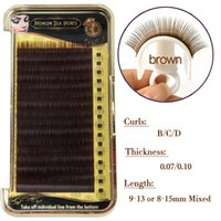 Wholesale Top Individual Lashes - Buzz Lashes 16 Lines 8~15mm Mix Brown Eyelash Extension Mink, Brown Mink Lashes, Brown Mink Eyelashes Natural top Lash Extension Makeup