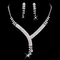 Wholesale Necklace Stars Heart - Hot Sale New Styles Statement Necklaces Pearl Sets Bridesmaids Jewelry Lady Women Prom Party Fashion Jewelry Earrings L001