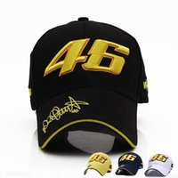 2016 Nuovo Design F1 Racing Cap Car Motocycle Racing MOTO GP VR 46 Rossi Ricamo Sport Hiphop Cotton Trucker Cappello da baseball