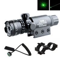 Wholesale Green Rifle Sights - New Tactical Hunting rifle Green Laser Sight Dot Scope Adjustable w  Mount light Gun Free Shipping