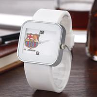 Wholesale football pins - Fashion NI luxury Brand women men's football style dial square Dial Silicone band quartz wrist watch N01