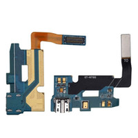 Wholesale Galaxy Note Flex Cable - 5PCS Lot New Replacement Parts For Samsung Galaxy Note 2 II N7100 Charging Charger Dock Port Connector USB Flex Cable Ribbon