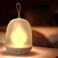 Wholesale Usb Timer Lamp - Portable LED Night Light USB Rechargeable Multicolor Baby Night Lamp Stepless Changing Color Auto-off Timer Hanging Rope for Bedroom Camping