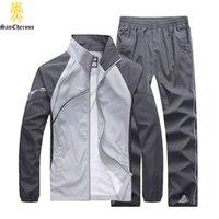 Wholesale Large Size Tracksuits - Wholesale-Free Shipping Large Size Brand Men TrackSuit Spring Autumn Long Sleeve Sweatshirts Size L-5XL