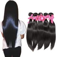 """Wholesale 36 Hair Extensions - Halo Lady 8""""-36"""" Brazilian Virgin Hair Weave Bundles 5Pcs Lot Unprocessed Straight Hair Extensions Free Shipping Peruvian Human Hair Weaves"""