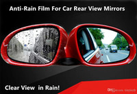 Wholesale 2017 New Rain x Anti fog Anti rain Film for Automotiv Rear View Mirror Flexible Anti Rain Guard for Car Side Windows Fast Clear Effect TT01