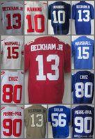 Wholesale Elite 13 - Men's 10 Eli Manning 13 Odell Beckham Jr 15 Brandon Marshall 80 Victor Cruz Elite American Football Jerseys Top Quality Stitching Jerse