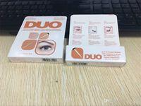 Wholesale Packaging Glue - New arrival DUO Eyelash Adhesives Eye Lash Glue brush-on Adhesives vitamins white clear black  5g New packaging makeup tool