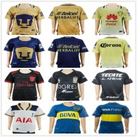 Wholesale Youth Mexico Jersey - Kids Soccer Jerseys Boca Juniors Blue Mexico Club UNAM Yellow Gold Tigres UANL Customize Youth Boys Football Shirt Kit Uniform
