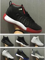 Wholesale pro b - New Jumpman Pro Men Basketball Shoes 12.5s Bred Taxi Black Red White Blue Sports Sneakers High Quality With Shoes Box