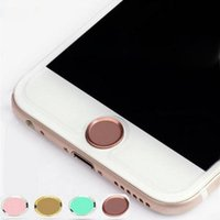Wholesale metal home button - Touch ID Metal Aluminum Home Button Sticker for mobile phone Finger Identification