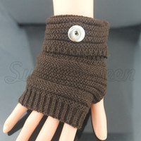 Wholesale Snap Gloves - 5 colors warm winter 18mm metal Snap Button gloves snap mittens watches women one direction female DIY jewelry