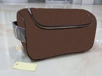 Wholesale High End Makeup - Classical style High-end quality men travelling toilet bag lady wash bag large capacity cosmetic bags makeup toiletry bag Pouch