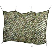 Wholesale Hunting Camping Tent M x M Sun Shade Sail Woodland Military Net Oxford Camouflage Net Double Tent