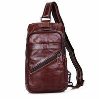 Wholesale Leather Sling Pillow - JMD Real Cow Leather Chest Bags Men's Sling Bag For Boy's Satchels Shoulder Messenger Bag Handbags 4003B